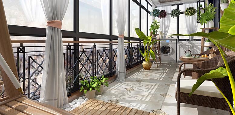封闭式阳台设计装修有何特质?杭州别墅装修