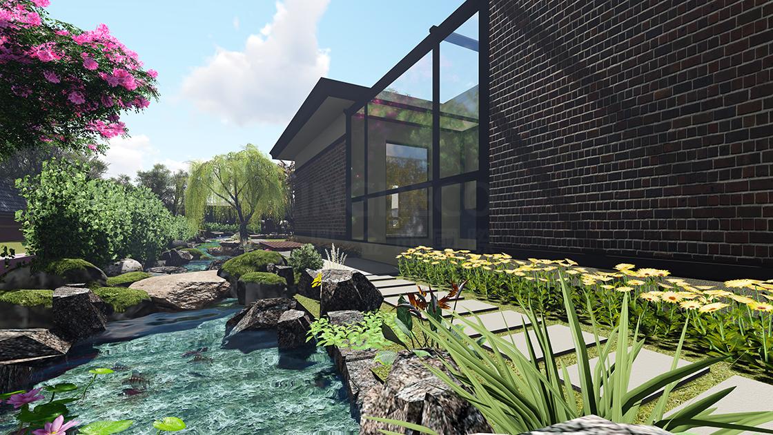 你梦想中的别墅花园设计,就在金邸装饰!