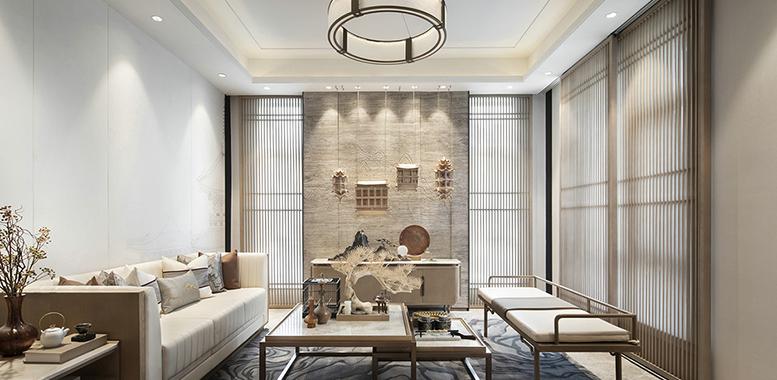 典雅的新中式风格杭州别墅装修设计,找寻生活的本味!