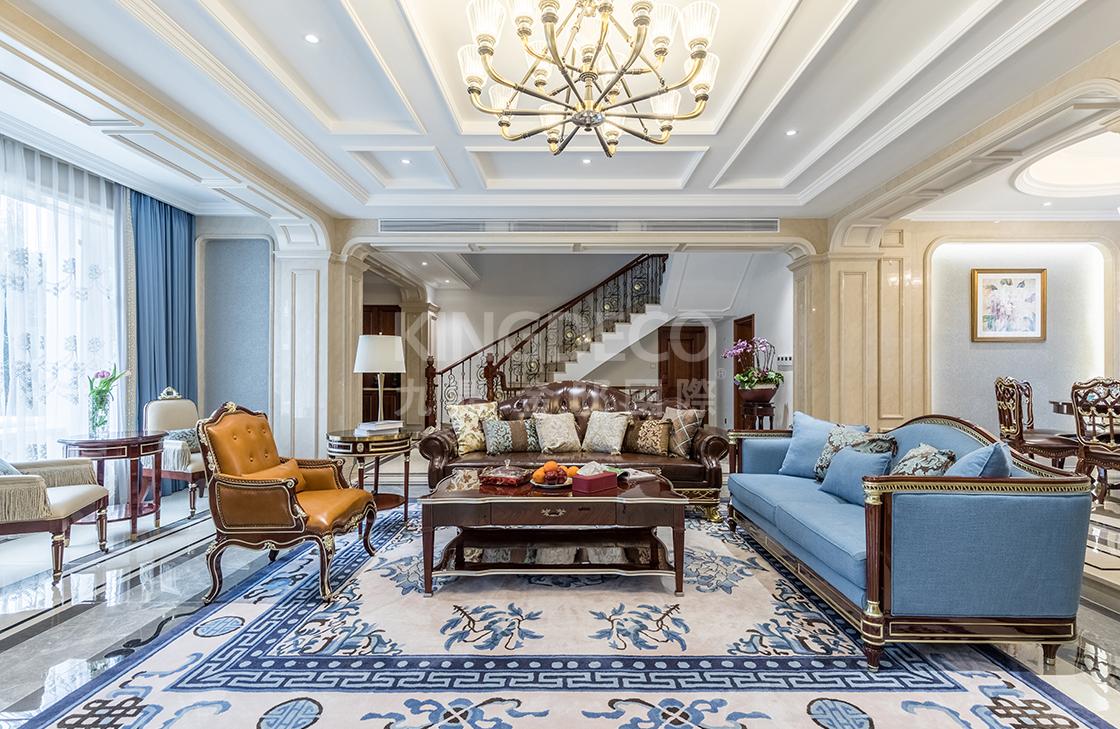 新古典装修风格在杭州别墅装修设计中的优雅呈现!