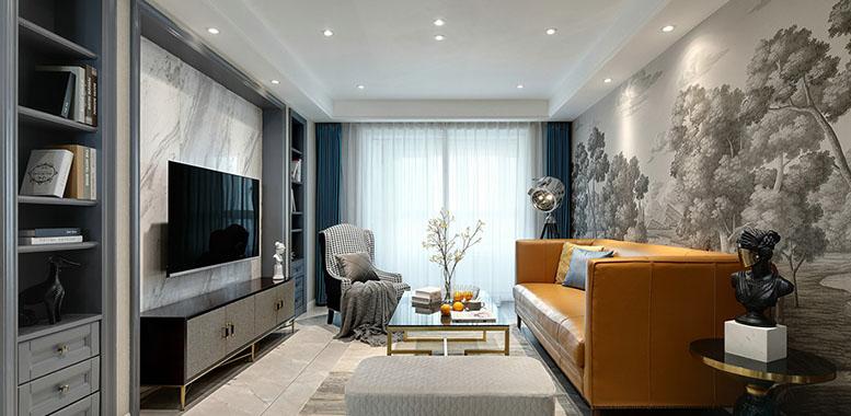 简美风格杭州别墅装修设计,让生活更优雅!