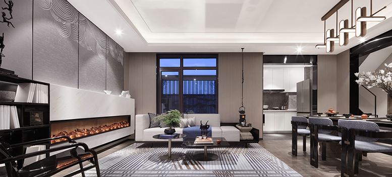 新中式风格杭州别墅装修,给你一个清雅舒适的家