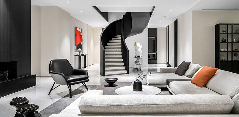 在杭州别墅装修中,我们的客厅沙发可以如何布置?